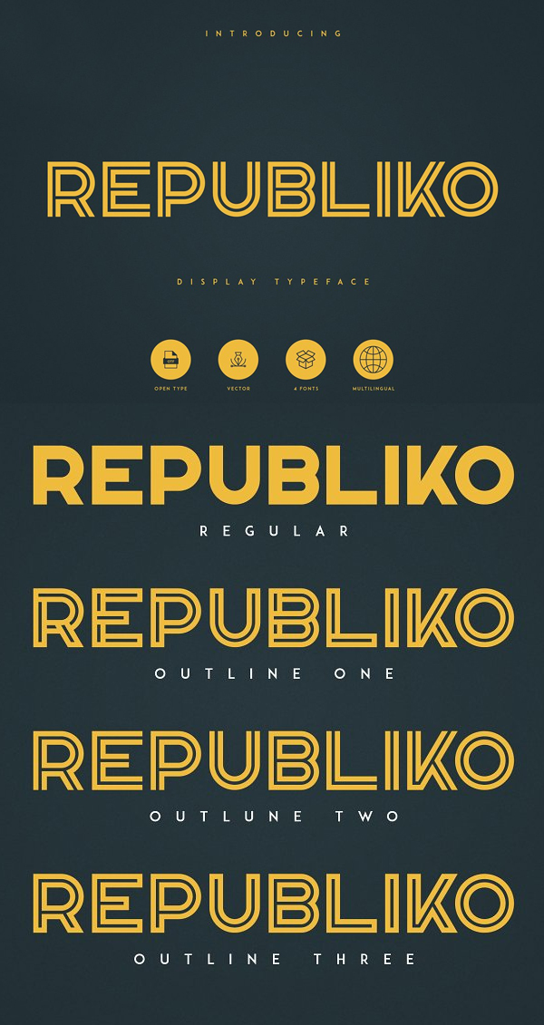 Republiko Free Font