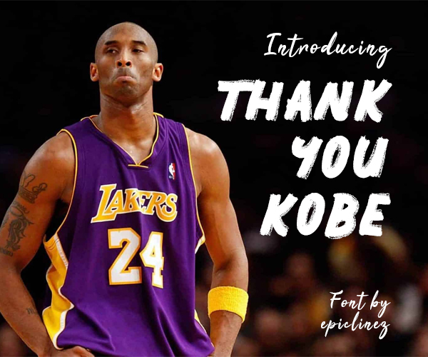 Thank You Kobe Free Font