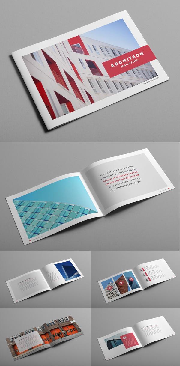 Architectural Creative Magazine Brcohure Template