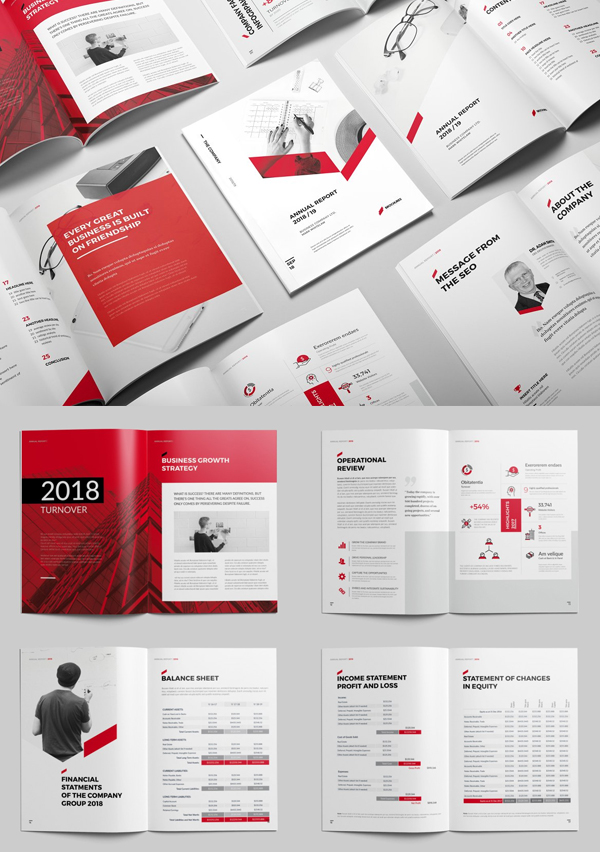 Sharp Annual Report Brochure Template