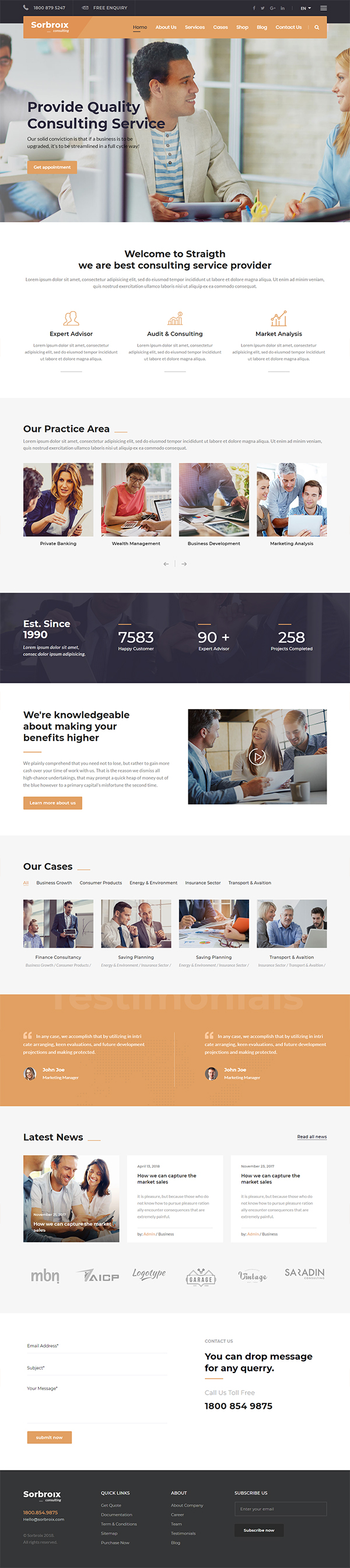 Sorbroix : Business Consulting WordPress Theme