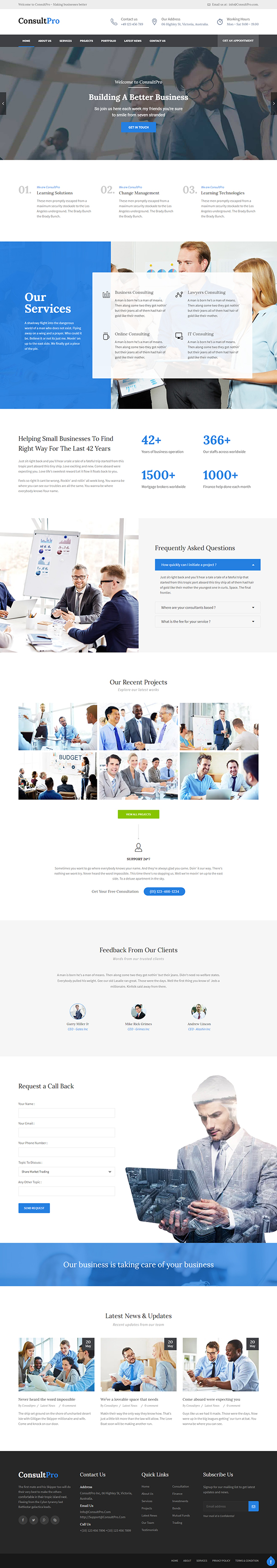 ConsultPro : Finance and Consultancy WordPress Theme