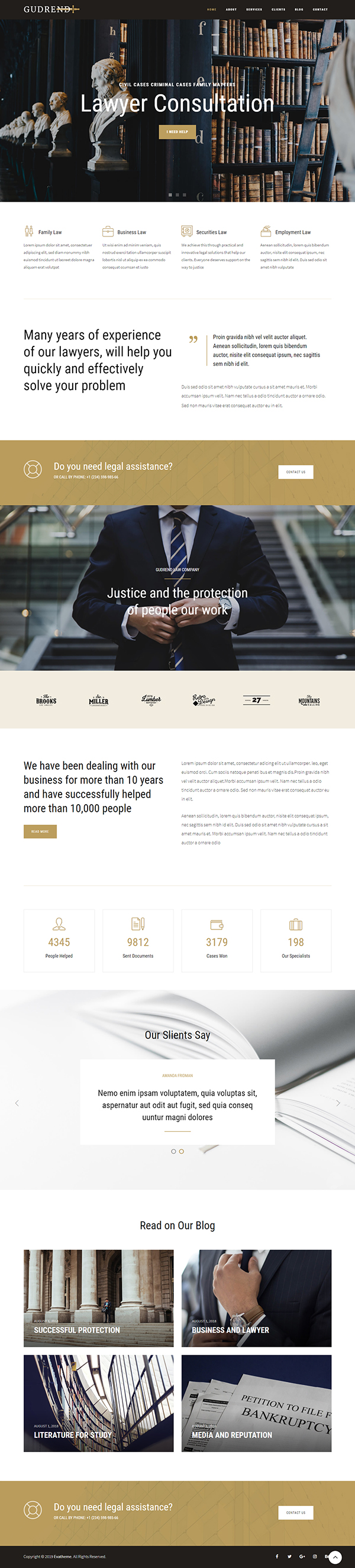 Gudrend - Lawyer Consultation WordPress Theme