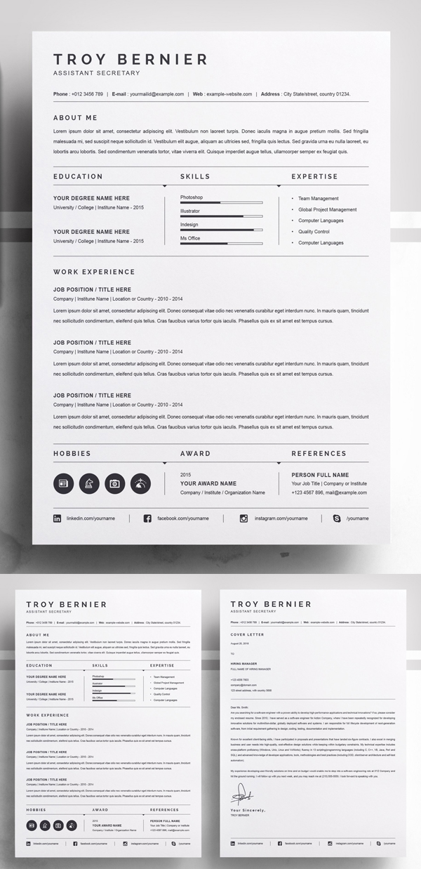 Elegant Clean Resume Template