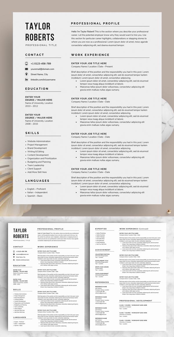 Resume / CV - The Taylor