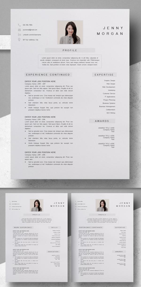 Elegant Resume Template | CV Template