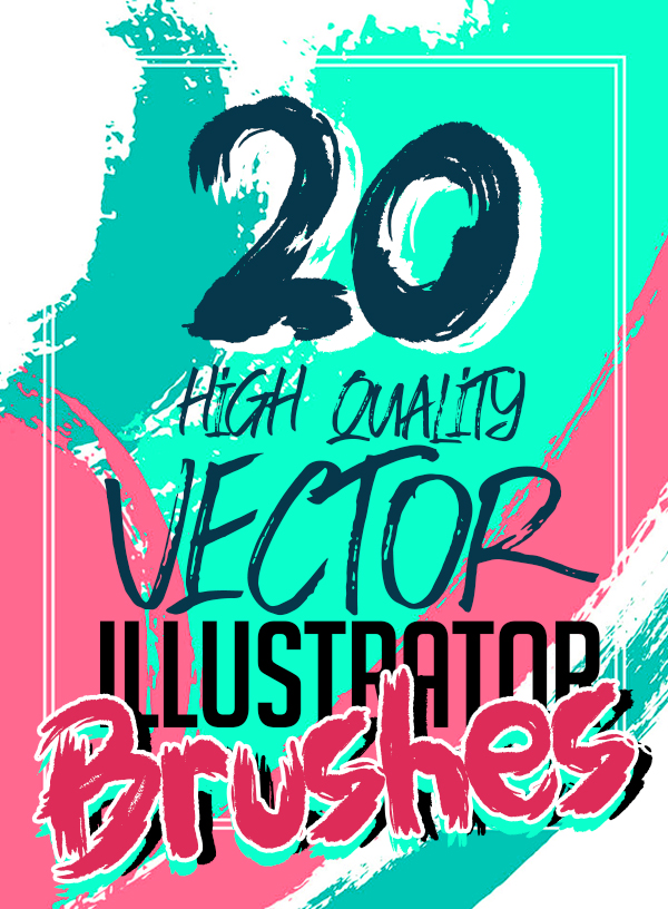 20 New High Quality Vector Illustrator Brushes