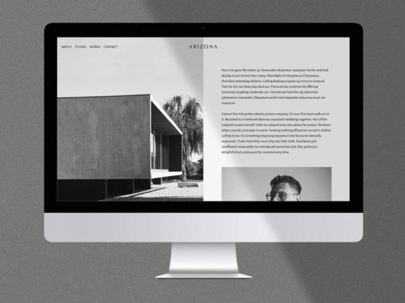Arizona: Free HTML personal / portfolio template