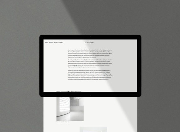Arizona HTML template preview on Tablet