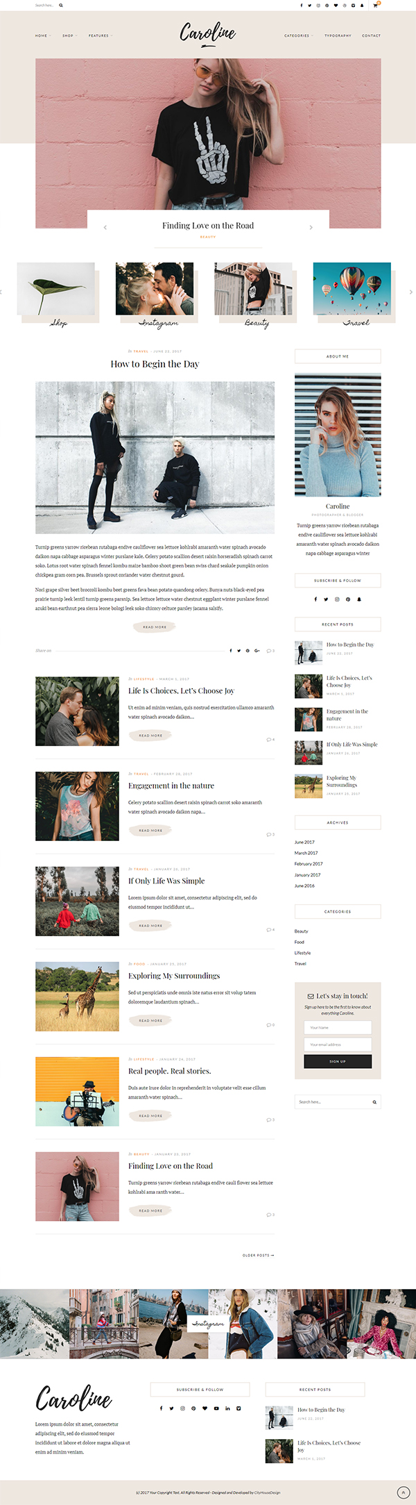 Caroline - A WordPress Blog Theme