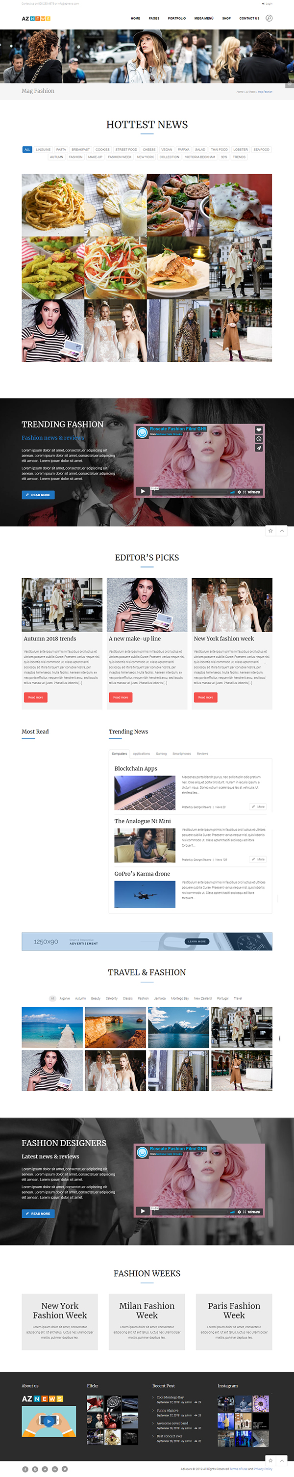AzNews - Magazine WordPress Theme