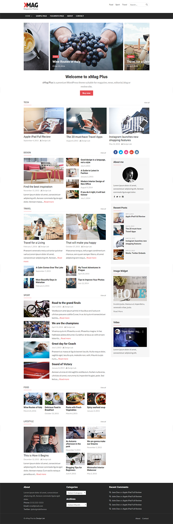 xMag Plus - Magazine WordPress Theme