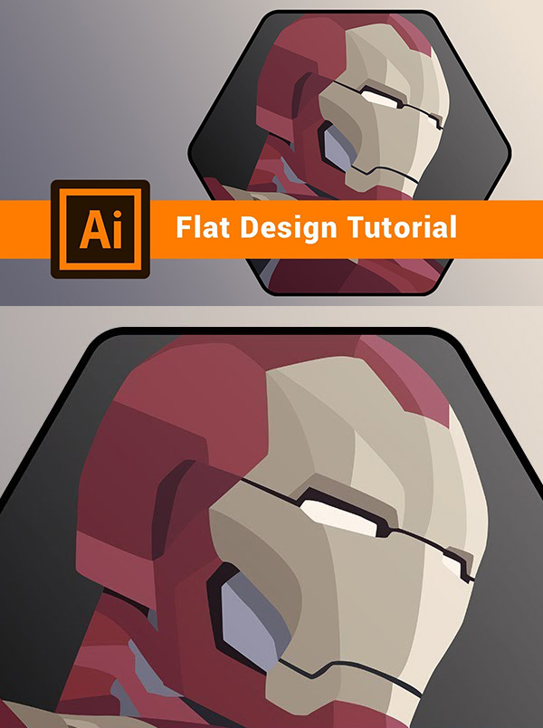 How to Create Flat Design Iron Man in Adobe Illustrator 2020