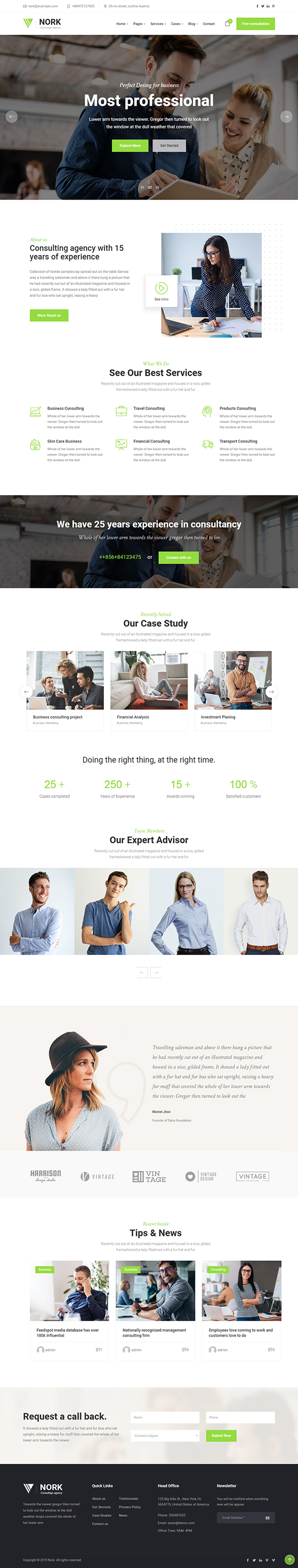 Nork - Business, Consulting WordPress Theme