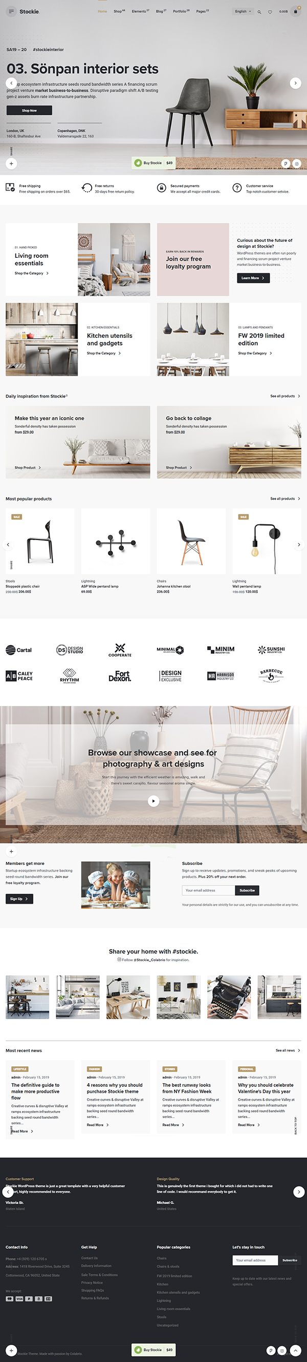 Stockie - Multi-purpose Creative WooCommerce Theme