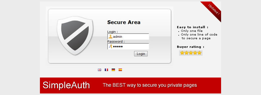 SimpleAuth  Very Simple Secure Login System