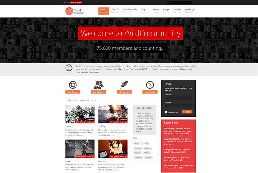 WildCommunity - BuddyPress Community Theme