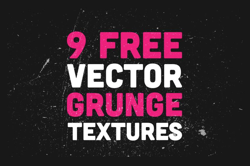 9 Free Vector Grunge Textures