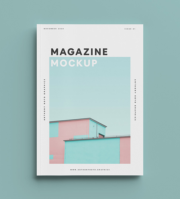 Free Top View Magazine Mockup