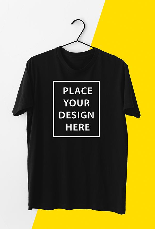 Free Realistic T-Shirt Mockup for Men