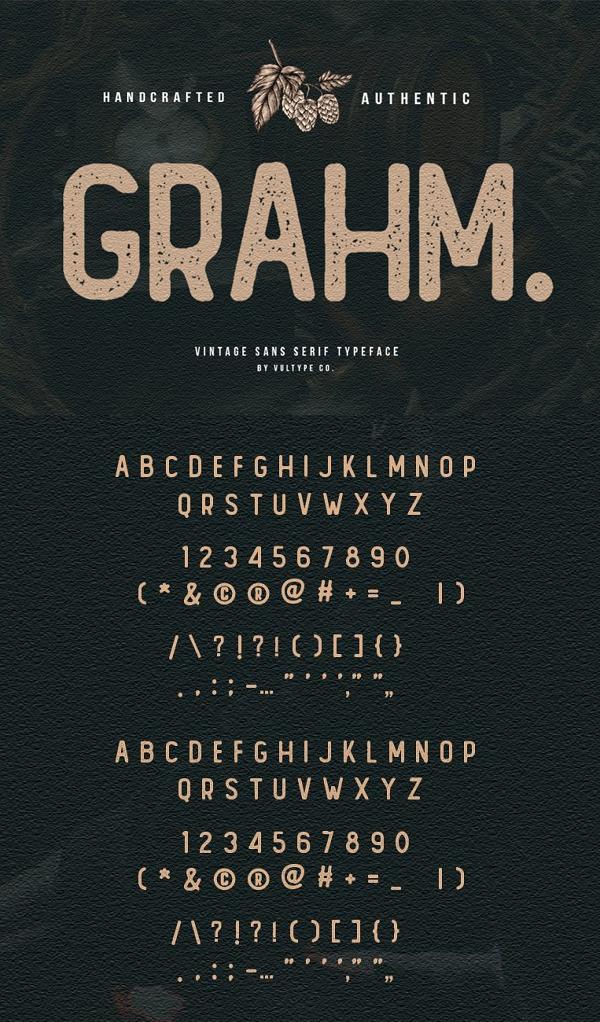 GRAHM Vintage Sans Serif