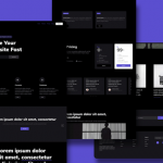 Hook: A dark HTML landing page template