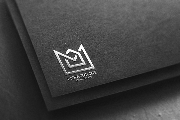 Free Silver Logo Mockup on Paper