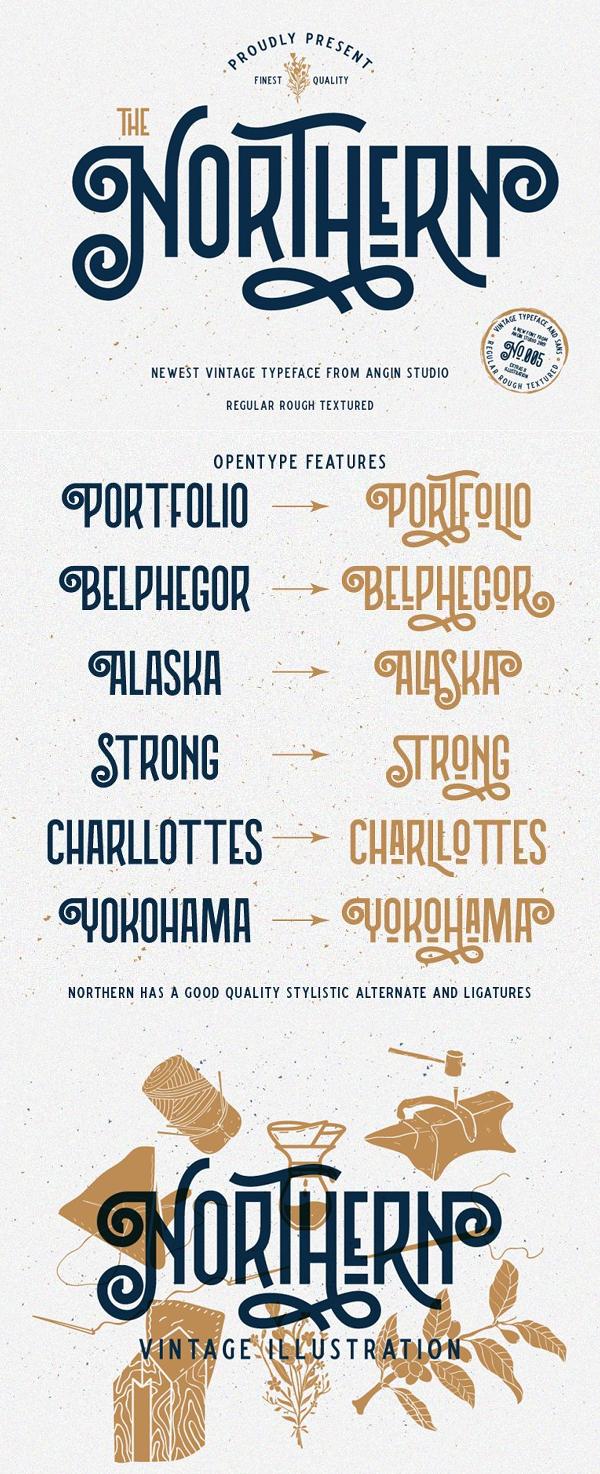 Northern Vintage Typeface