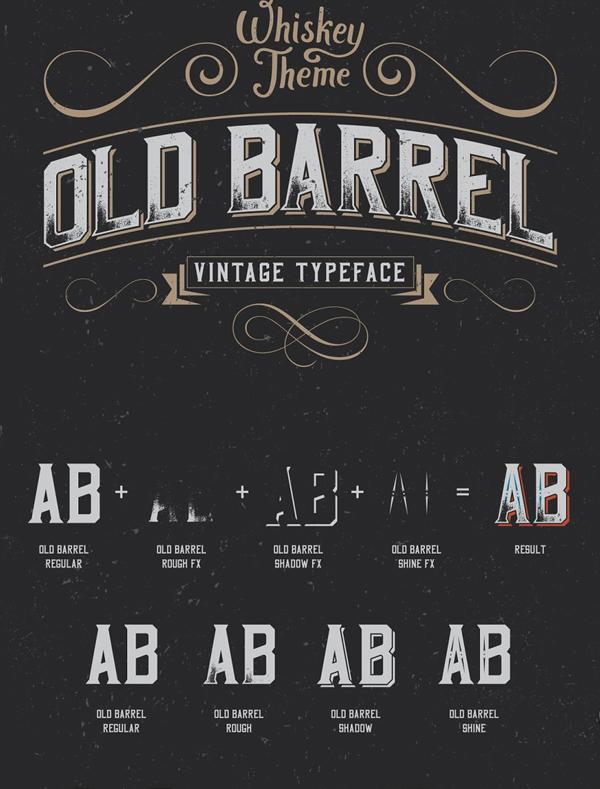 OldBarrel Vintage Typeface