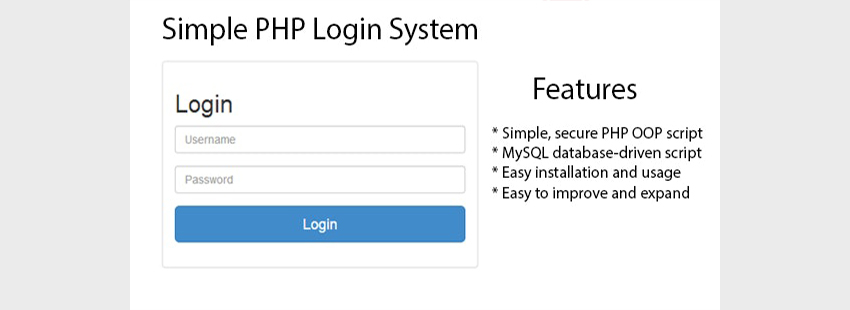 Simple PHP Login System