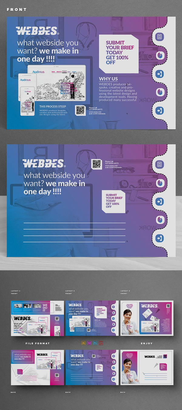 Modern Business Postcard Templates
