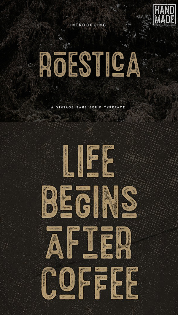 Roestica Vintage Sans Typeface