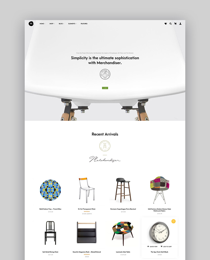 Merchandiser - eCommerce Theme for WooCommerce