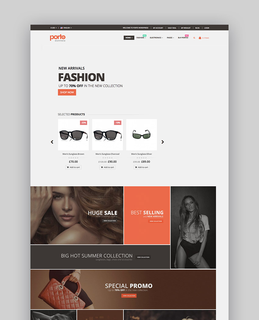 Porto  Responsive WordPress  eCommerce Theme