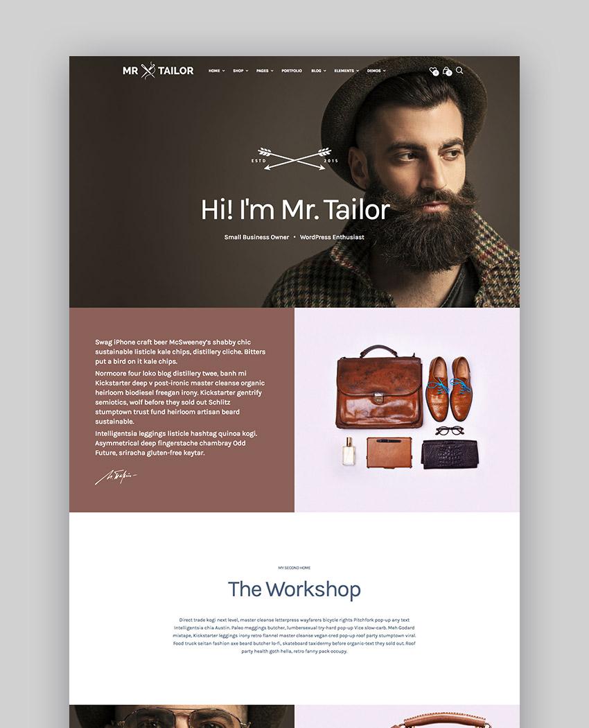 Mr Tailor - eCommerce WordPress Theme Design