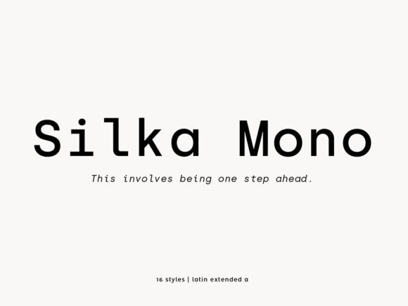 Silka Mono: Free regular monospaced font
