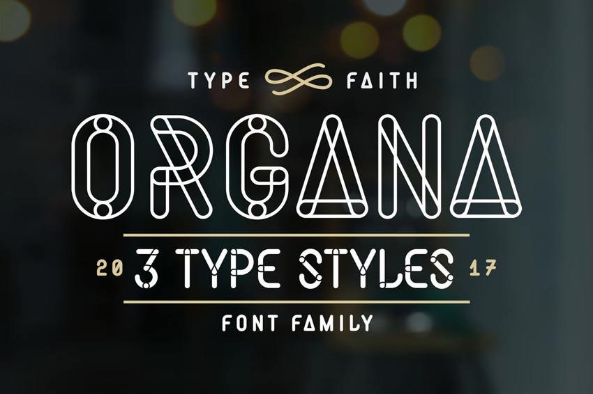 Organa Caps Font Family