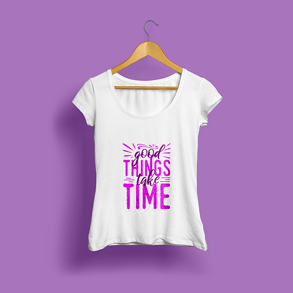 Women T-Shirt Mockup PSD