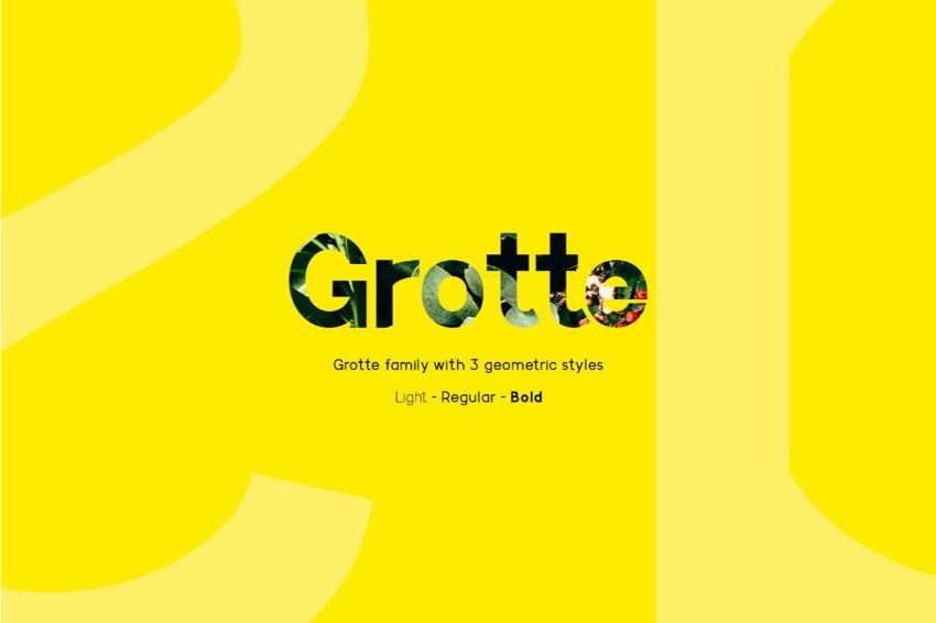 grotte - a font similar to helvetica