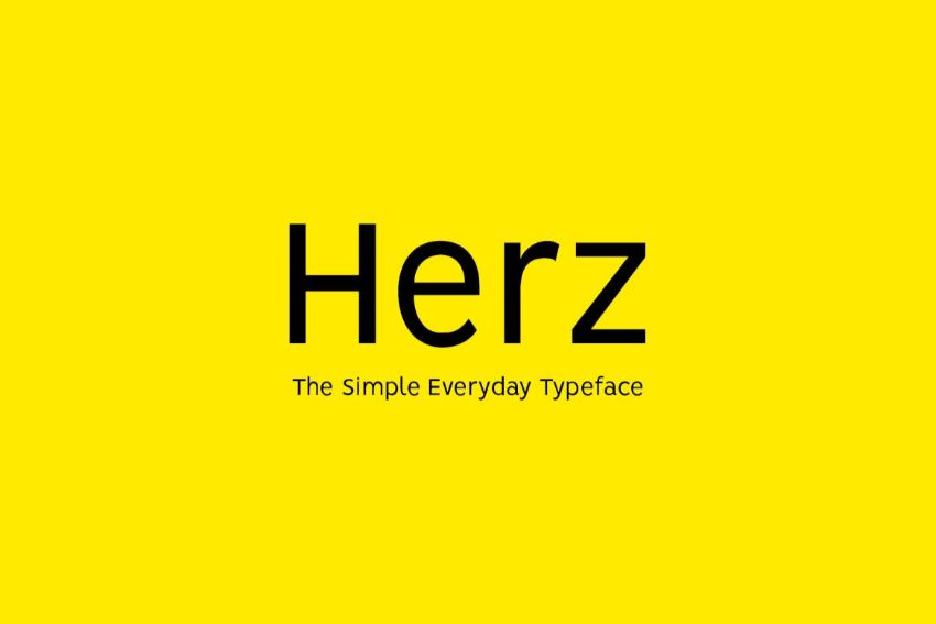 herz - a font similar to helvetica