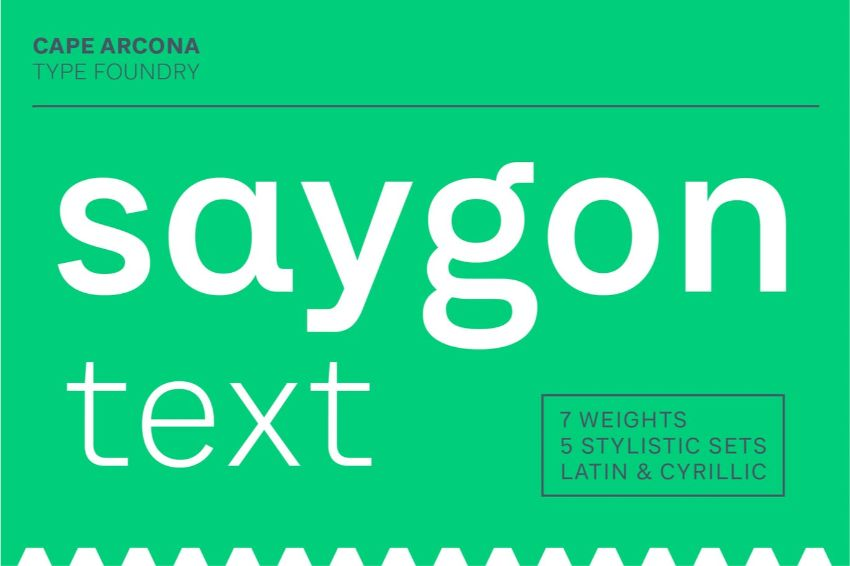 saygon text - a font similar to helvetica