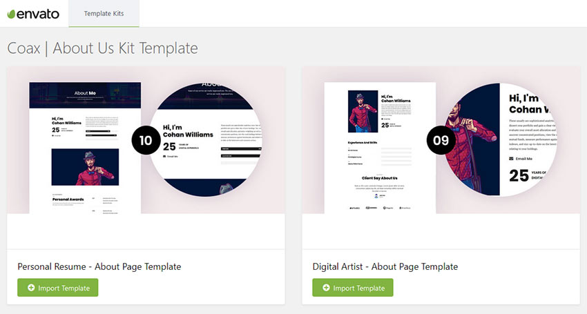 Envato Template Kit After Installation