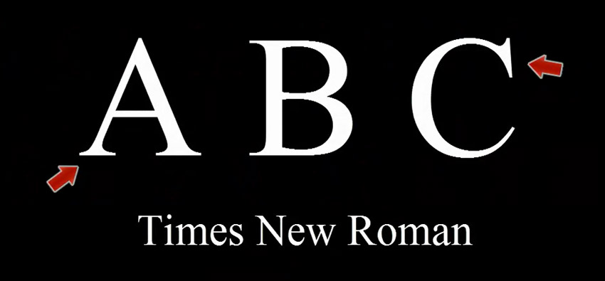 Serif Font Times New Roman