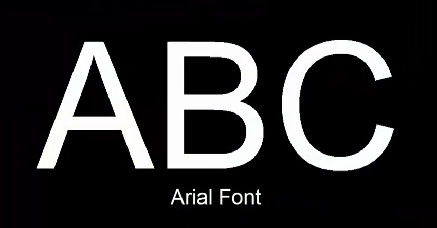 Sans Serif Font Arial