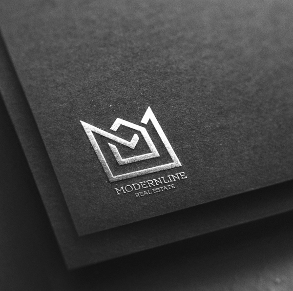Silver Logo Mockup on Black Paper - Free