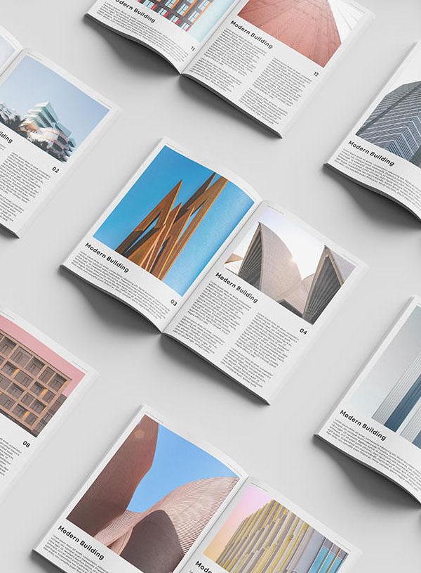 Free Magazine Set Mockup