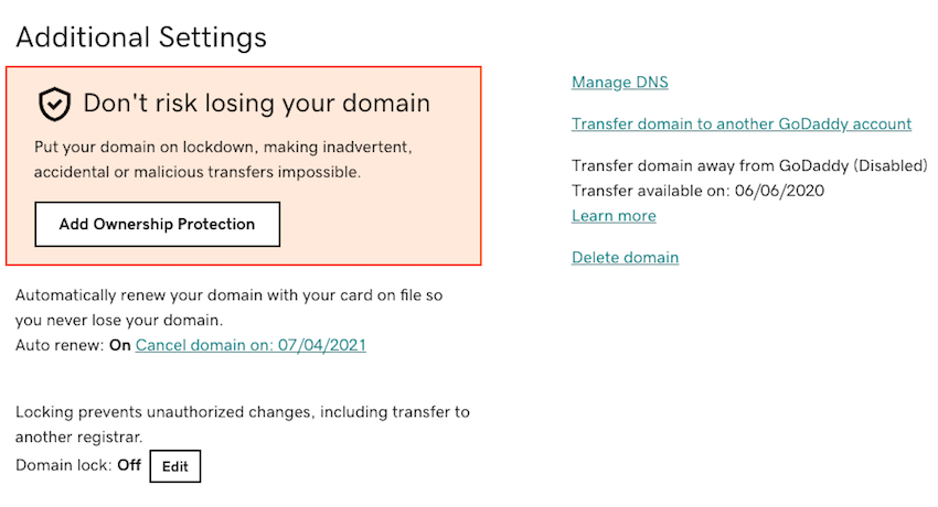 Youll typically be able to edit your providers DNS settings in the Manage DNS menu