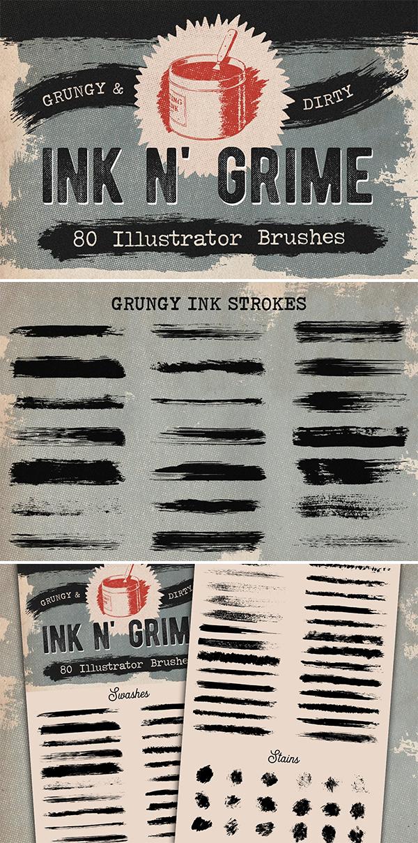 Dry Ink Illustrator Brushes
