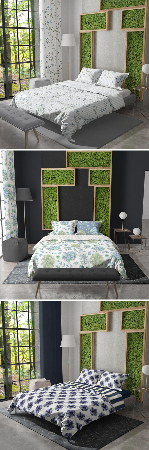 Bedding and Curtain Set