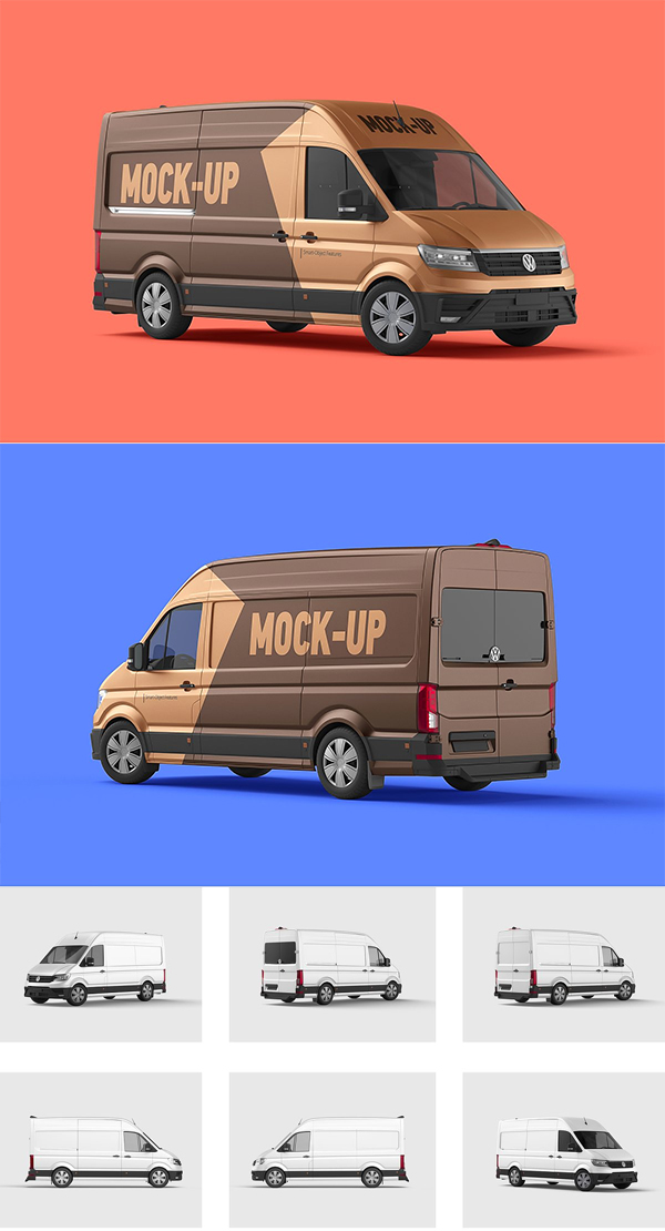 Cargo Van Mockup Set